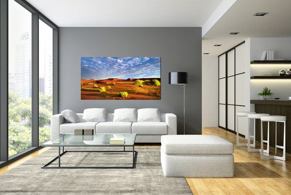 Interior of the modern design  loft  with black lampl 3D rendering